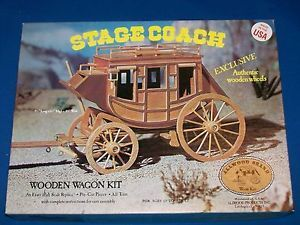 Allwood Brand Stagecoach Wooden Wagon Model Kit Kits Exact 16th Replica Complete