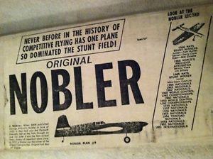 Original Nobler Control Line Model Airplane Kit Complete