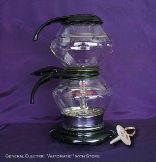 Vintage Antique General Electric Automatic Vacuum Coffee Maker Bakelite