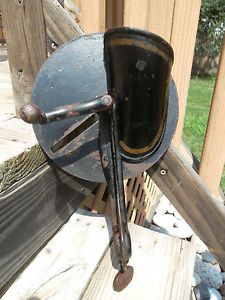 Antique Farm Tool Grain Corn Grinder Coffee Grinder Table Mount with Crank