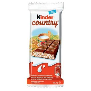 Kinder Country 5x23 5g 5x0 9oz Milk Cream Puffed Cereal Filled Choc 5 Pack