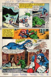 Original 1980's Captain America 272 Marvel Comics Color Guide Art Page 11 Zeck