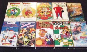 Family Children VHS Lot Comedy Cartoons Flintstones Christmas Muppet Show GUC