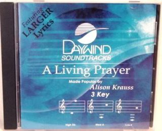 Alison Krauss A Living Prayer New Accompaniment CD