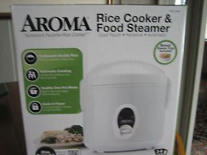 Aroma Rice Cooker Food Steamer Slow Cooker Model No Arc 614BP New Unopened