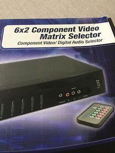 Impact Acoustics 6x2 Component Video Matrix Selector REDUCED