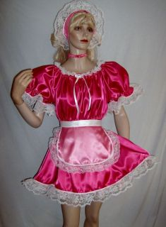 Edition Cherry Pink Valentine 4pc French Maid Costume Adult Sissy Baby Dress