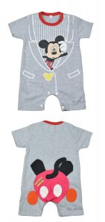 Baby Boys Girls Micky Minnie Costume Outfit Romper One Piece Clothes Size 00 0 1