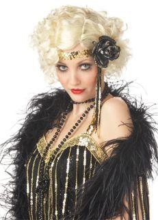 Jazz Baby Honey 1920's Halloween Costume Wig Blonde