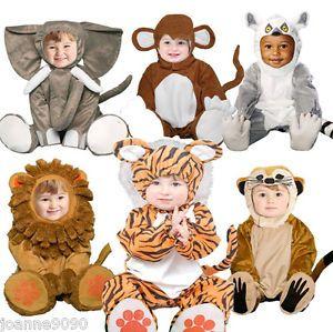 New Deluxe Boys Girls Baby Toddler Kids Zoo Animal Fancy Dress Halloween Costume