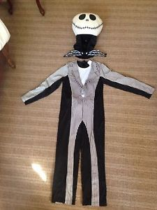 Disney Store Jack Skellington Kids Costume 10 12 Nightmare Before Christmas