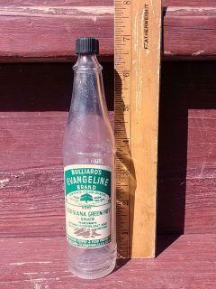 Vintage Bulliards Evangeline Lousiana Red Hot Sauce Bottle Green ACL