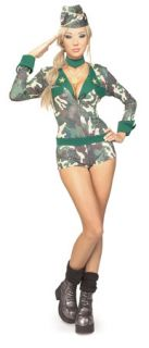 Army Girl Soldier Camo Womens Sexy Halloween Costume M