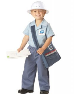 Mr Postman Toddler Mail Man Baby Boys Halloween Party Costume L 4 6 Child Kids