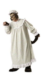Big Bad Wolf Elite Collection Adult Mens Costume Nightgown Scary Halloween