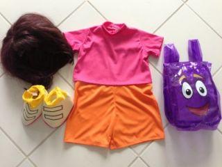 Toddler Girl Dora The Explorer Costume Dress Up Halloween Size 2 3 4