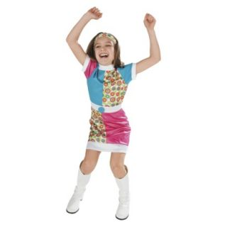 Girls Funky Mod Sixties Costume 60s 70s Small 4 5 6 Black Friday Sale