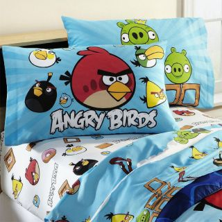 Rovio Angry Birds Application Game 3pc Twin Single Bedding Sheet Set New