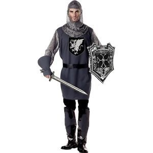 Valiant Knight Costume Adult Medieval Dragonslayer Halloween Fancy Dress