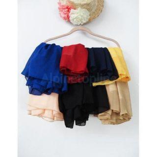 Lovely Women Empire Waist Chiffon Pleated Summer Skirt Mini Dance Dress