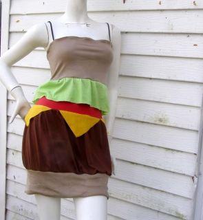Cheeseburger Dress s XL Costume Kawaii Japan Hamburger Halloween