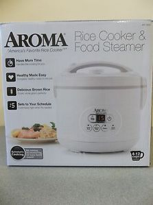 New Aroma 4 12 Cup Digital Rice Cooker Food Steamer Model Arc 926D White
