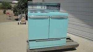 Vintage Retro Aqua Turquoise Blue 1950 1960s Frigidaire Range Stove Cooking Oven