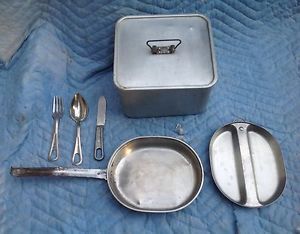 "US Army 8"" Cooking Pot WW II Mess Kit A G M Co"