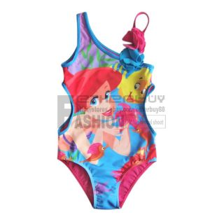 Girl Kid Ariel Mermaid Swimsuit Swimwear 7 8 Years Swimming Costume Bathing Suit