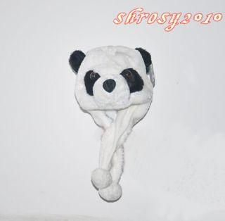 Women Girls Cartoon Animal Panda Lovely Fluffy Plush Warm Hat Cap Beanie Hats