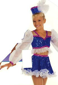WOW Baby Doll Dance Costume Tap Pink White Royal Blue Sequin Fabric Adult XL