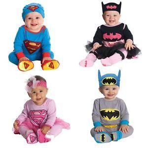 W048 Baby Boy Girl Superman Batman Costume Halloween Free Hat 6 18M