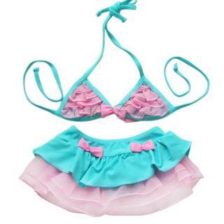 Baby Girl Bikini Swimsuit Tutu Swimwear Bathing Suit Swimming Costume Sz 2T 4T