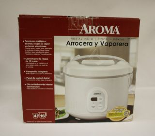 Aroma Arc 838TC 8 Cup Uncooker 16 Cup Cooked Digital Rice Cooker Food Steamer