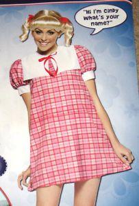 Sexy Sissy Adult Baby Cindy Brady Babydoll Short Dress Costume 4 10 Small