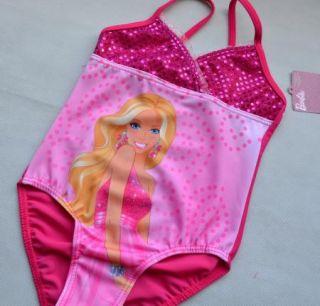 Kids Girls Barbie Princess Swimsuit Bikini Costume Tankini Swimwear Size 4 5Y