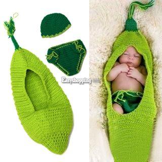 Newborn Baby Girl Boy Crochet Knit Hat Cap Costume Photography Prop Outfit ES9P