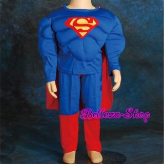 Halloween Party Superman Muscle Kid Costume Size 2T 7