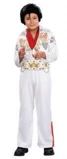 Elvis Presley Deluxe White Jumpsuit Outfit Licensed Sequins Child Costume Party