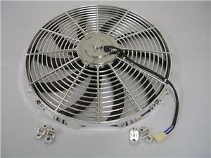 "16"" Chrome Electric Cooling Fan Relay Switch Kit"