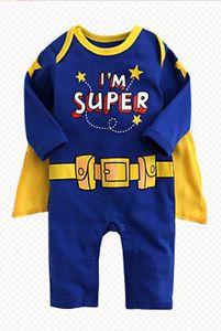 Baby Boy Cartoon Character Superman Superboy Party Costume Halloween Highlight