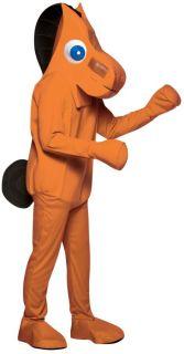 Pokey Adult Costume TV Clay Character Gumby Animal Cartoon