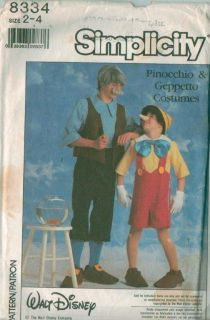Simplicity Walt Disney's Character Halloween Costume Sewing Pattern Disney