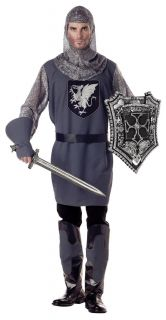 Valiant Medieval Knight Costume Adult New