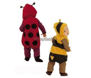 OO55 Fancy Dress Baby Fleece Cartoon Cosplay Ladybird Bee Costume Romper 3 24M
