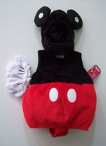 Sz 6 9 Months Mickey Mouse Plush Toddler Baby Costume