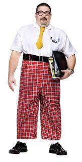 Nerd 50's Adult Plus Mens Costume XXL School Geek Student Theme Party Halloween