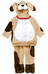 Gymboree Baby Boy Halloween Costume Plush Hooded Puppy Dog w Face Ears 6 12