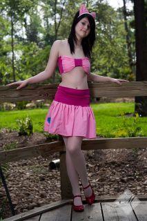 My Little Pony Set Skirt Top Ears Pinkie Pie MLP FIM Cosplay Costume Halloween