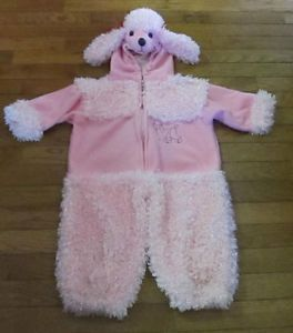 Baby Toddler Halloween Costume Size 2T Plush Pink Poodle Dog Cute